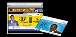 NFL Multimedia (web & print) event lead generating platform, Variable print & production management