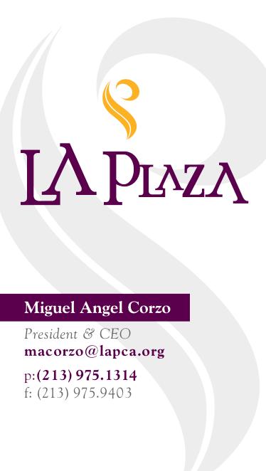 LA Plaza business card back