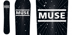 Muse KROQ Promotional snowboard