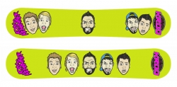A Day To Remember KROQ Promotional snowboard