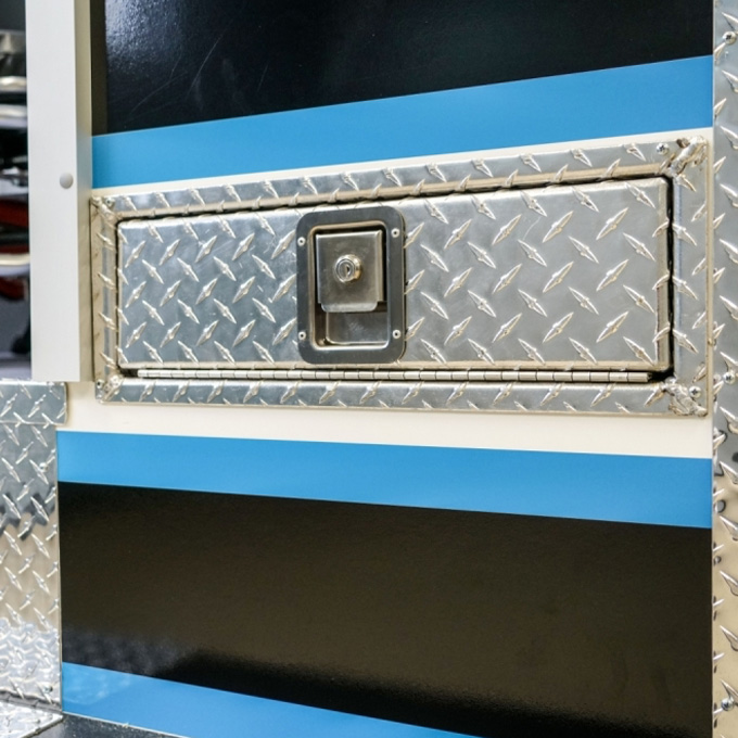 Diamond Plate Back Board Storage Door