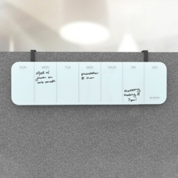 U Brands Magnetic Glass Weekly Dry-erase Board