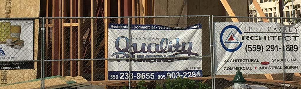 Quality Plumbing Sign
