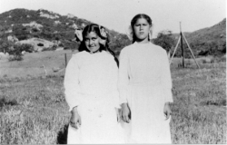 Helen Trask, Florence Trask ' Photo taken Easter 1916 on San Pasqual Reservation'