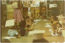 1978 Preschool students graduation party in the Young Indian Program.