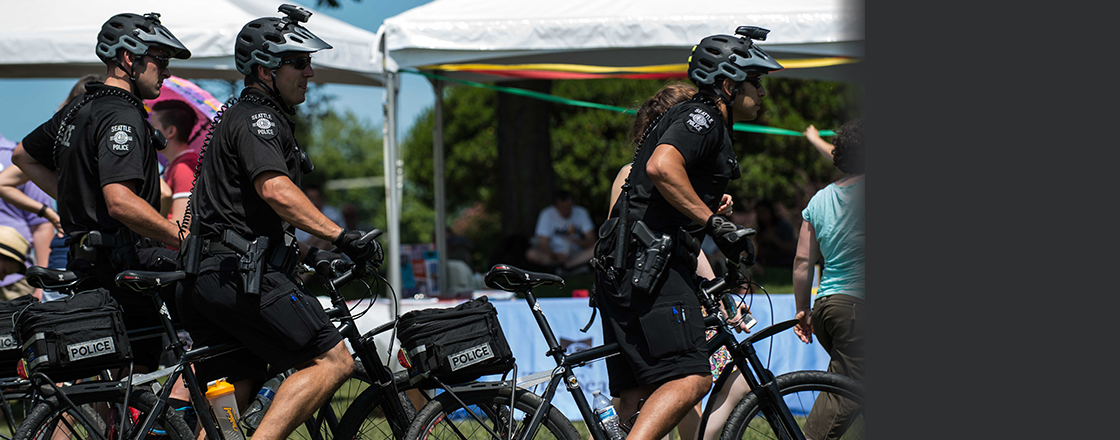 Bike Patrol TrainingTo promote public safety, resources are provided by the Foundation for professional development of SPD officers.Learn More